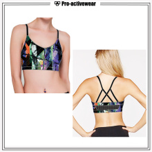 Women Sport Bra Gym Clothing Removable Pad Fitness Sports Bra