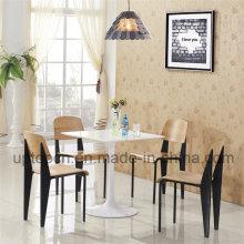 Ресторан мебель Белый стол и деревянный стул с металлической ножкой (СП-CT667)