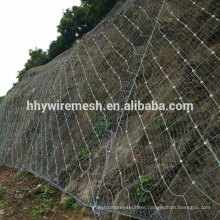Spider Shaped Rockfall Netting Active Slope Protection System rope netting
