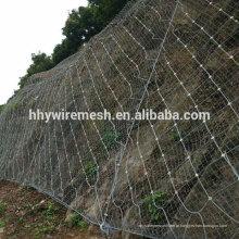 Rede de corda em forma de aranha Rede ativa Sistema de proteção de inclinação Rede de corda