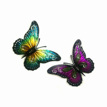 2 Colors Pastel Metal Butterfly Wall Decoration for Garden