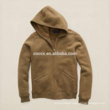 15PKH11 full zip winter thick fleece custom hoodies