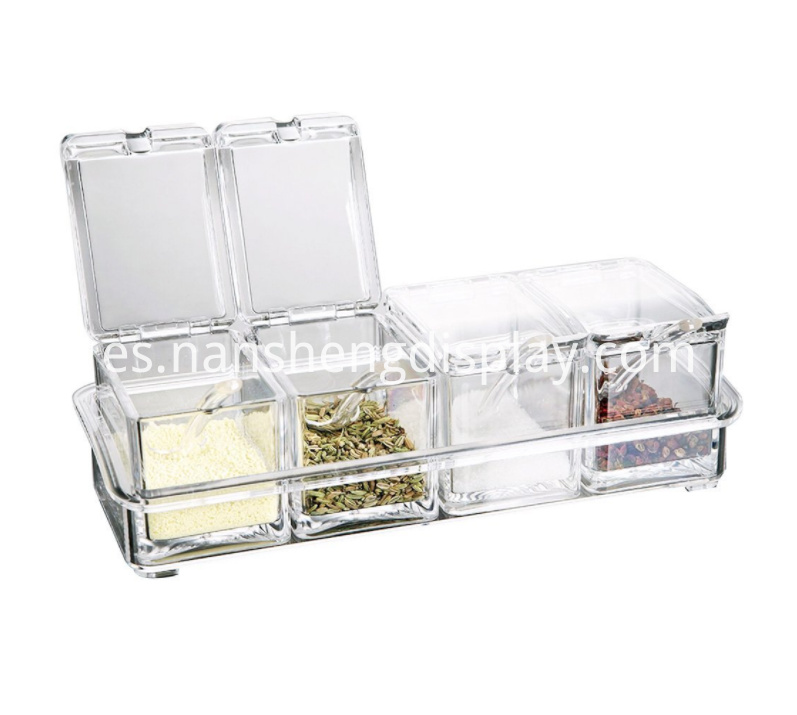 Clear Acrylic Condiment Spice Jars