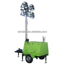 4 lampes tour à tour mobile génératrice d'essence RZZM-12G