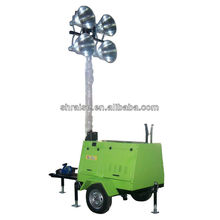4 lâmpadas torre de luz móvel gerador de gasolina RZZM-12G