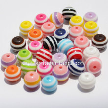 Round Shaped Zebra Striped Resin Beads Jewelry Charm