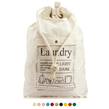 Eco friendly recycled cheap price extra large nature color cotton hotel Storage laundry bag