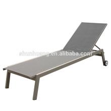 outdoor beach furniture aluminum recliner chair teslin fabric lounge chaise