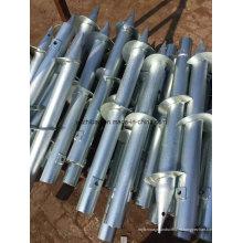 Гальванизированные шлифованные стальные винтовые сваи