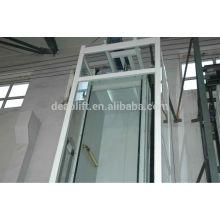 Ascensor de villa sin cuarto de la máquina con la pared del coche del vidrio de la seguridad