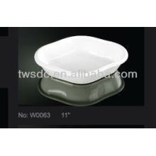 Restaurant hotel white porcelain boat shaped dishes
