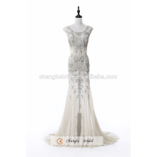 High Quality Luxury Beading Shiny Red Carpet Dresses See Through Evening Gown