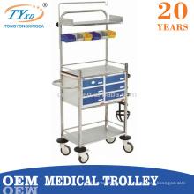 chariots de chariot de médecine d'équipement d'hôpital sur des roues