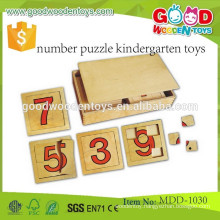top sale kids puzzle toys OEM wooden number puzzle kindergarten toys MDD-1030