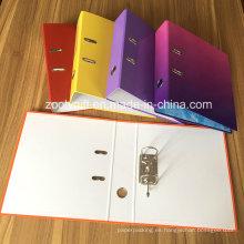 "Surtido de cartón impreso colorido A4 de 3 ""de papel archivador de palanca"