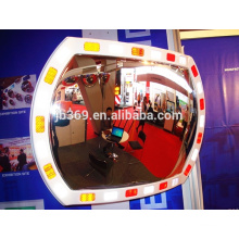 Espelho convexo reflexivo plástico do tráfego exterior de 16x24 polegadas