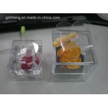Boîte en plastique d'emballage de bougie de fleur de cristal (boîte pliante)