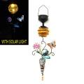 Metall-Schmetterling W. Glasball Solar Licht Garten Handwerk