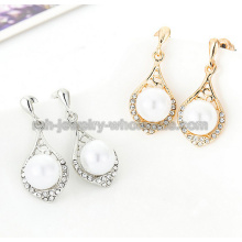 Animal Shape Zinc Alloy Pearl Fashion Rhinestone Earrings
