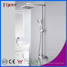 Ensemble de douche en laiton de pluie de salle de bains de Fyeer Chromed (QH336-1)