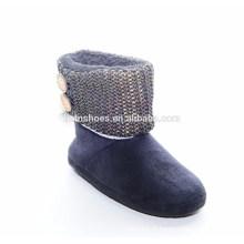 Vente en gros chaussures à talons bas caoutchouc Bottes chaussure femme neige
