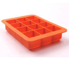 Food Grade silicone ice cube tray, Silicone ice cube mold with 12 cavity
