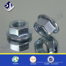 high quality DIN6923 zinc plated hex flange type nut with factory price