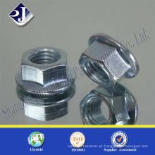 Porca de tipo hexadecimal tipo DIN6923 de alta qualidade com preço de fábrica