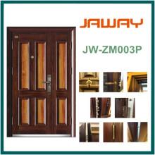 Puerta de seguridad de empalme blindada de acero, diseño de una y media