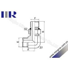 Raccord ajustable mâle métrique de coude de 90 degrés (1EH9-OG)