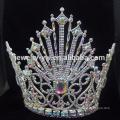 Novo estilo casamento grande pérola coroa de cabeça para a noiva
