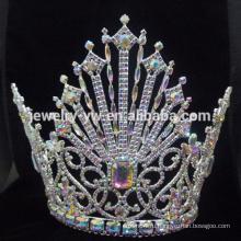Новый стиль Свадебный Большой Pearl Корона заставку для невесты