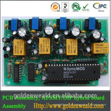 Placa do controlador de circuito do ouro da imersão para a placa de conjunto do pcb do controlador de temperatura