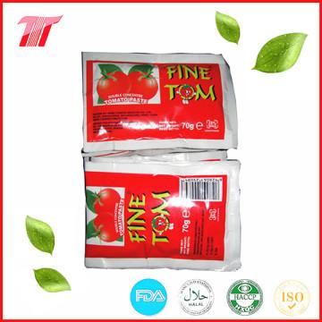 70г пакетик томатной пасты с мелким бренда Tom