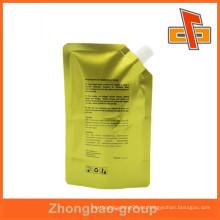 Stand up bolsa de embalaje con la bolsa de empaquetado líquido de pico para el jugo de embalaje