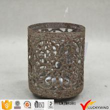 Sujetadores rústicos de la luz del té de la vela de la pequeña vendimia