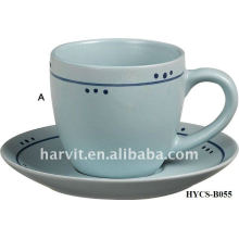 Décalcomanies diverses Robe de thé et soucoupe
