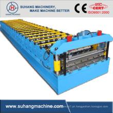 Máquina formadora de rolos de canal de metal