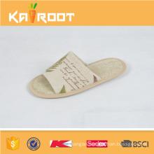 2016 summer natural linen men footwear designs slippers sandals