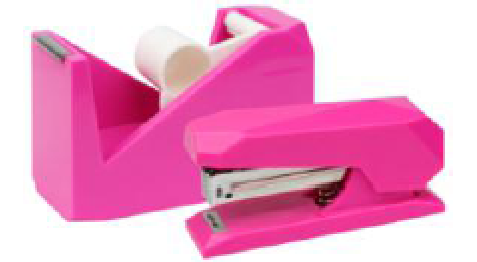 plastic tape dispenser and stapler
