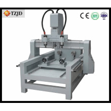 Two Heads Rotarys Wood Plastic CNC Router
