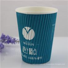 Taza de papel desechable con logotipo impreso personalizado