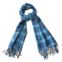 Мужская мода кашемир шерсть акрил зимний шарф с бахромой (YKY4048-2)