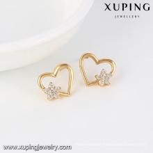 91664-Xuping Cheap price costume sweet heart earrings