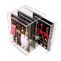 Fashion acrylic jewelry display earring storage box