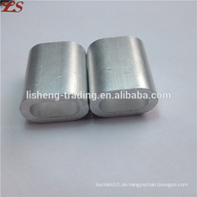 Flache ovale Rohrhülsen Aluminium-Aderendhülsen