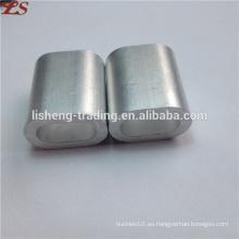 Manguitos de tubos ovalados planos, casquillos de aluminio