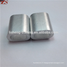 Manchons ovales plats ferrules en aluminium