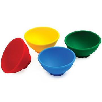 4 Stück / Set Silikon Küchenschüsseln, Silikon Mini Pinch Schüsseln