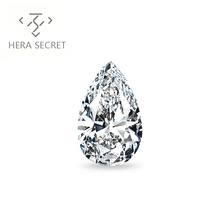 ForeverFlame G H 13ct VVS1 Pear Cut huge diamond CVD CZ Moissanite  Angel's tears jewelry women